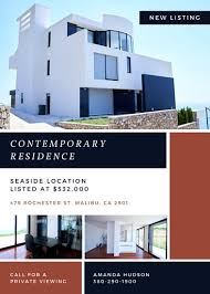 Contemporary Residence Real Estate Flyer Templates By Canva