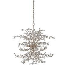currey company tiara silver granello six light chandelier hover to zoom