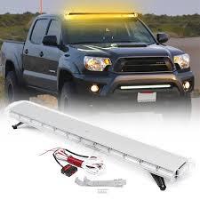 Yellow Light Bars For Trucks 2x 4 Led Car Truck Emergency Beacon Light Bar Hazard Strobe