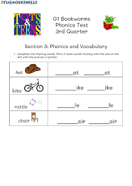 Handwriting worksheet maker make custom handwriting & phonics worksheets type student name, small sentence or paragraph and watch a beautiful dot trace or hollow letter. Phonics Test Bookworms April 30 Worksheet