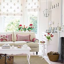 Attractive Scandi Living Room With Red And Florals | Living Room Ideas | Living Room |  PHOTO Awesome Ideas