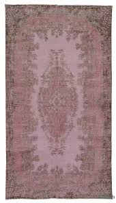 Vintage Overdyed Turkish Rugs K0011878 Pink Dyed Turkish Vintage Rug Kilim  Rugs