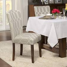 kitchen dining room chairs homepop pewter grey cream lattice elegance parson chairs set of 2