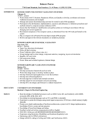 Senior Engineer Validation Resume Computer System Validation Resume