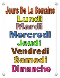 French Days Of The Week French Days Of The Week Poster