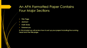Apa Format Formatting Running Heads And Title Pages Catherine M