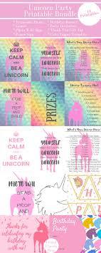 Birthday Invitations Printable Unicorn Birthday Party Printables Giant Bundle