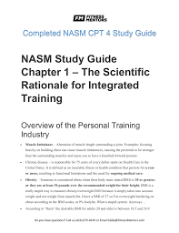 Nasm One Rep Max Chart Nasm Study Guide Chapter 7 Flexibility Training