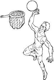 Basketbal Kleurplaat Gratis Kleurplaten Printen