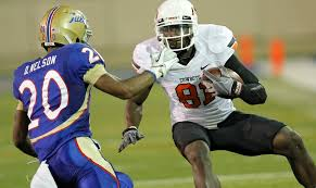 Osu My Chart Tulsa Osu Football Notebook Receiver Justin Blackmon Moving Up