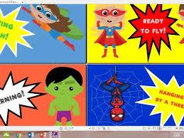 Reward Chart Superhero Theme