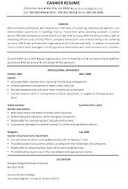 Sample Resume Of Cashier Customer Service Best Of Example Resume For Cashier Audiologist Resume And Salary Job