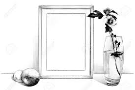 Glass Template Template Picture In A Frame Sitting On The Table Beside A Glass