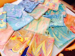ebru turkish marbling art work 12 person