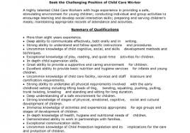 Resume For Child Care Free Sample 8 Child Care Worker Resume Resign