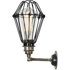 industrial steampunk wall light with