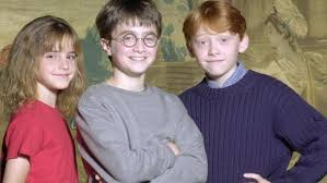 rupert grint and emma watson and daniel radcliffe then and now.  And British Actor Daniel Radcliffe 11 Centre Who Will Play Boy Wizard Harry  Potter In The New Movie U0027Harry And Sorceroru0027s Stoneu0027 Poses Alongside  In Rupert Grint And Emma Watson Radcliffe Then Now