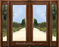 exterior doors with glass mahogany exterior doors with sidelights cool glass double front doors