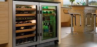 Undercounter Drink Refrigerator Horizontal Beverage Cooler Uc 24bg Sub Zero