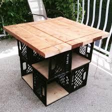 crate outdoor furniture. Milk Crates Patio Table With Storage Crate Outdoor Furniture