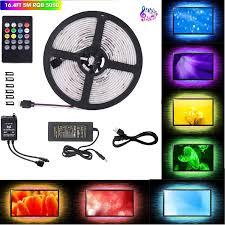 Led Lights Sync To Music Ahua Led Strip Lights Led Lights Sync To Music 16 4ft 5m Led Light Strip 300 Led Lights Smd 5050 Waterproof Flexible Rgb Strip Lights Ir