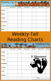 Free Fall Weekly Reading Charts