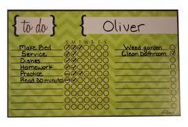 Dry Erase Calendars Chores