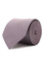Мужской розовый <b>шелковый галстук HUGO</b> — купить за 4800 руб ...