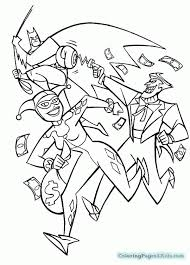 dc super girls harley quinn coloring pages