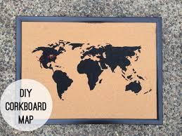 Image Wall Diy Corkboard Map Pinterest Diy Corkboard Map Diy Diy Cork Board Cork Board Map Corkboard