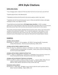 Apa Style Citations Some Basic Rules