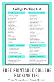 A College Packing List With Dorm Must Haves Princess Pinky Girl