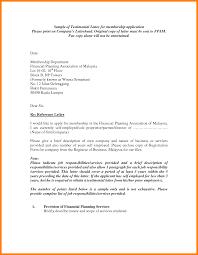 Model Testimonial Letter Full Sample Letters Template Resume