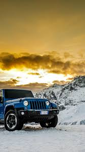 Blue, Jeep Wrangler, off road ...