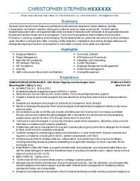 Human Resources Generalist Resume Sample Human Resources Generalist