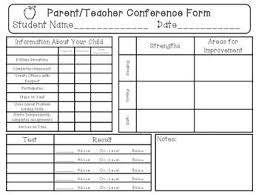 Parent Conference Form Under Fontanacountryinn Com