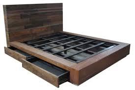 Rustic Platform Bed With Storage Rustic Bedroom Furniture Log For