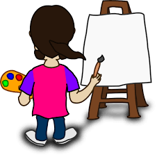 cartoon character painting blank slate clip art at clker com vector f0odpe clipart