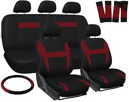 truck seat covers for ford f150 red black w steering wheel belt pads head rests