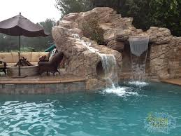 Creativity Pool Designs With Slides And Waterfalls Rock Waterfall Slide Splash Pools Construction Chino Inside Inspiration