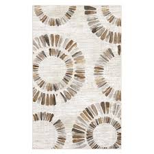 darren medallion neutral 5 ft x 8 ft area rug