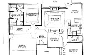 4 bedroom 2 story floor plans elegant 1 story house plans with 4 bedrooms single story