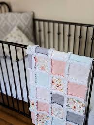 soft pastel fl baby quilt crib