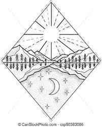 太陽 夜 月 日 Monoline