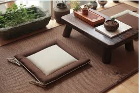 japanese floor cushions with square size and brown color schemes