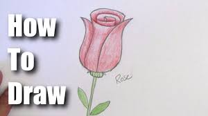 Small Picture How To Draw A Rose Easy Step by Step For Beginners YouTube