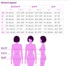 Size Chart Vinshar Group Lingerie Sexy Lingerie China