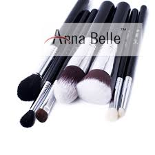 china factory privated label black nylon goat hair high end makeup cosmetic brush set china best cosmetic brushes makeup brushes set