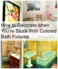 Avocado Bathroom Suite House Revivals Decorating With Colored Bathroom Fixtures