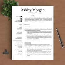professional resume template for word pages 1 2 and 3 page resume template proffesional resume templates